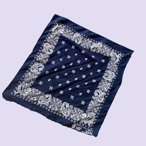 USA made Cotton navy blue bandana